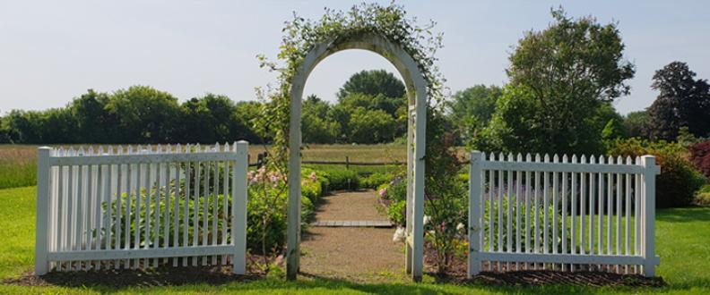 Archway at the Alicia Wayland Pollinator Garden at the Jonathan Trumbull Jr. House Museum