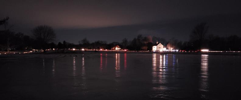 Jr. House Skating Pond and Luminaries